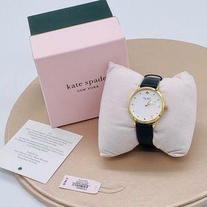 NWT Kate Spade Metro Monogram S White Dial Watch